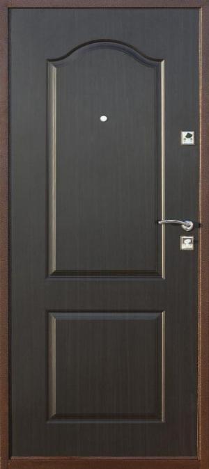 железная дверь с внешней и внутренней стороны